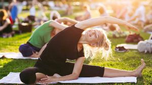 Outdoor Yoga in Manhattan, NY