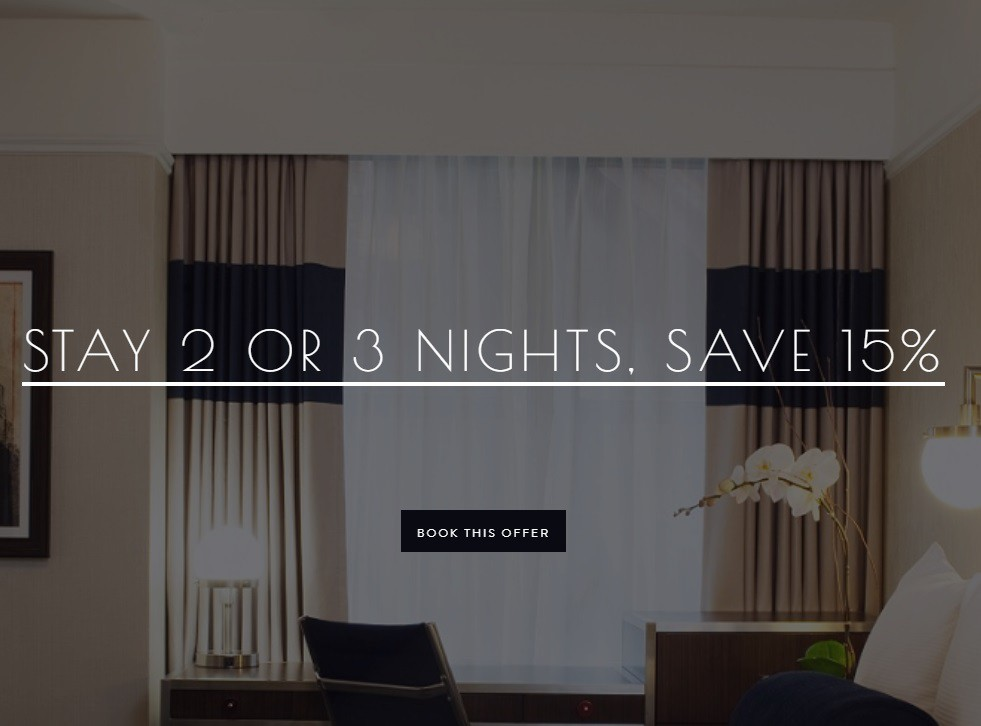 The New Yorker Hotel 15% Off 2/3 Nights & $1 Breakfast