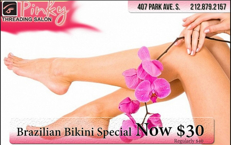 Pinky Threading Salon 25% Off Brazilian Bikini
