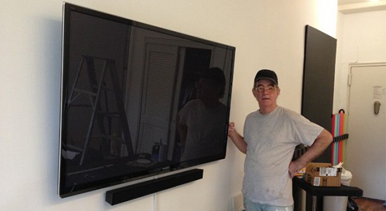 Michael Works 50% on Flat Screen TV Installations