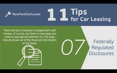 11 TIPS for Car Leasing